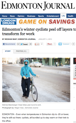 Edmonton's winter cyclists peel off layers to transform for work